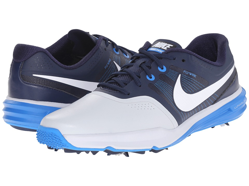 Nike Golf - Lunar Command (Pure Platinum/White/Midnight Navy/Photo Blue) Men
