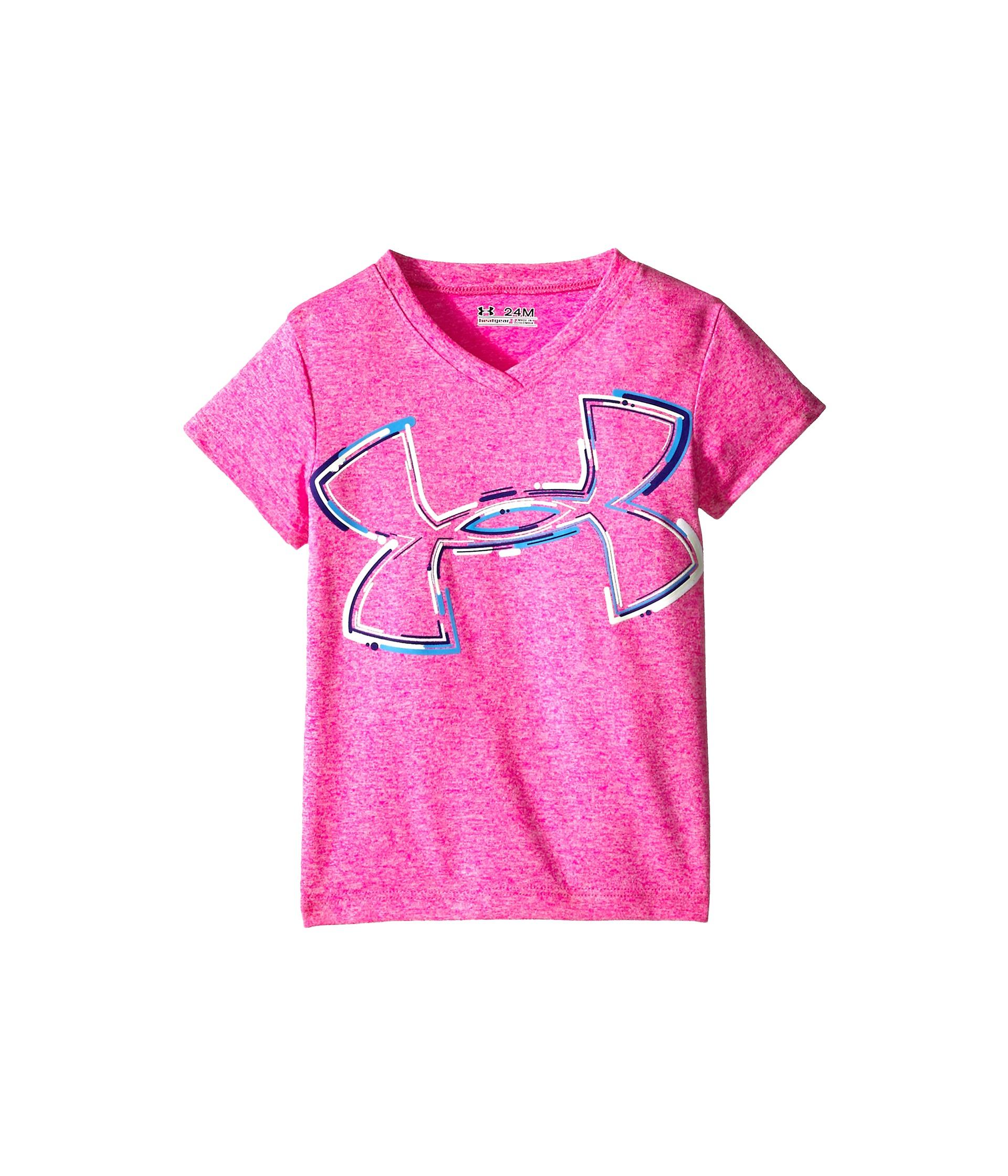 Under Armour Kids Neon Logo Top (Infant) Rebel Pink ...