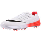 Nike Golf Lunar Control 4 (White/Black/Bright Crimson)