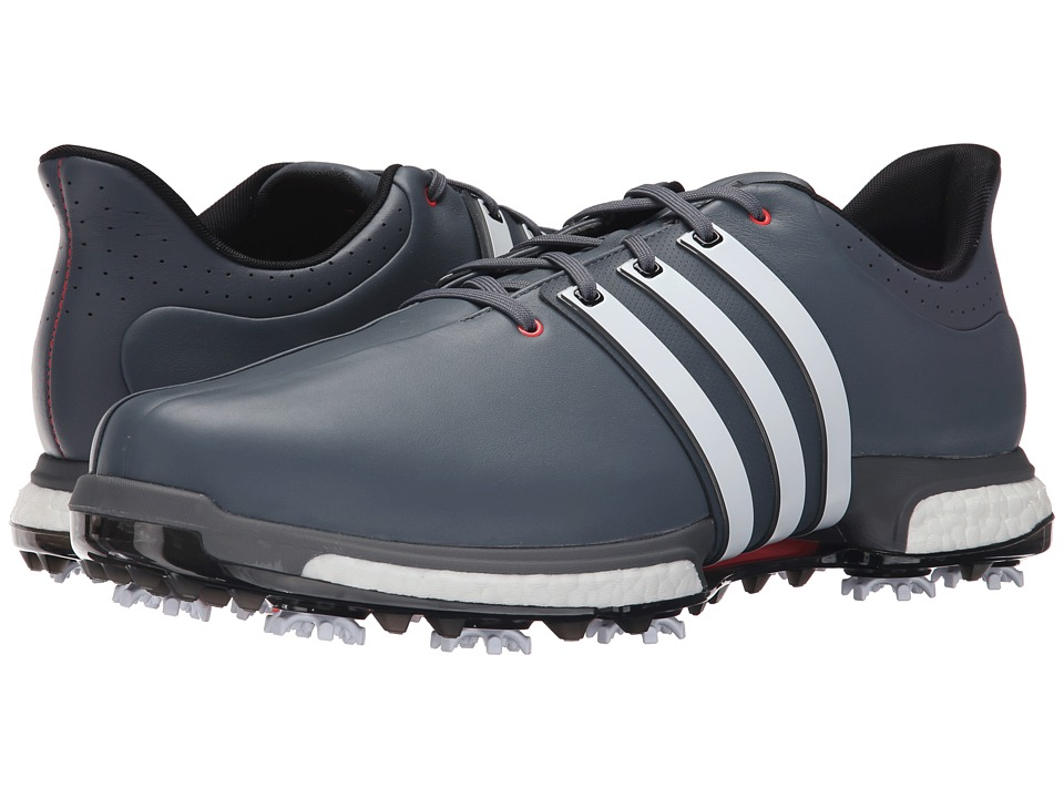 adidas Golf Tour360 Boost Onix/Ftwr White/Shock Red Mens Golf Shoes