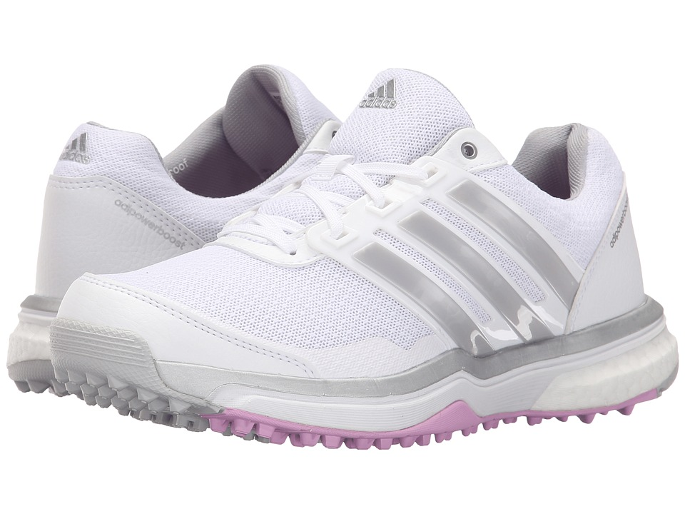 adidas Golf Adipower S Boost II (Ftwr White/Matte Silver/Wild Orchid-Tmag) Women