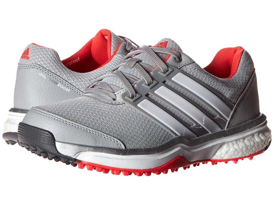 adidas Golf Adipower S Boost II Clear Onix/Ftwr White/Shock Red Womens Golf Shoes