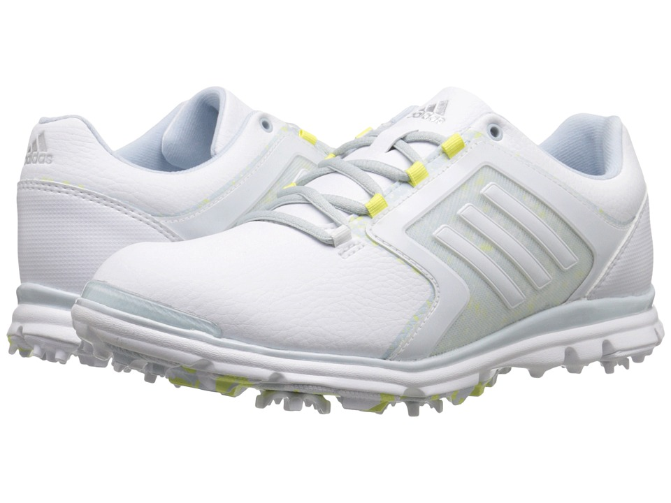 adidas Golf Adistar Tour Ftwr White/Soft Blue Tmag/Sunny Lime Tmag Womens Golf Shoes