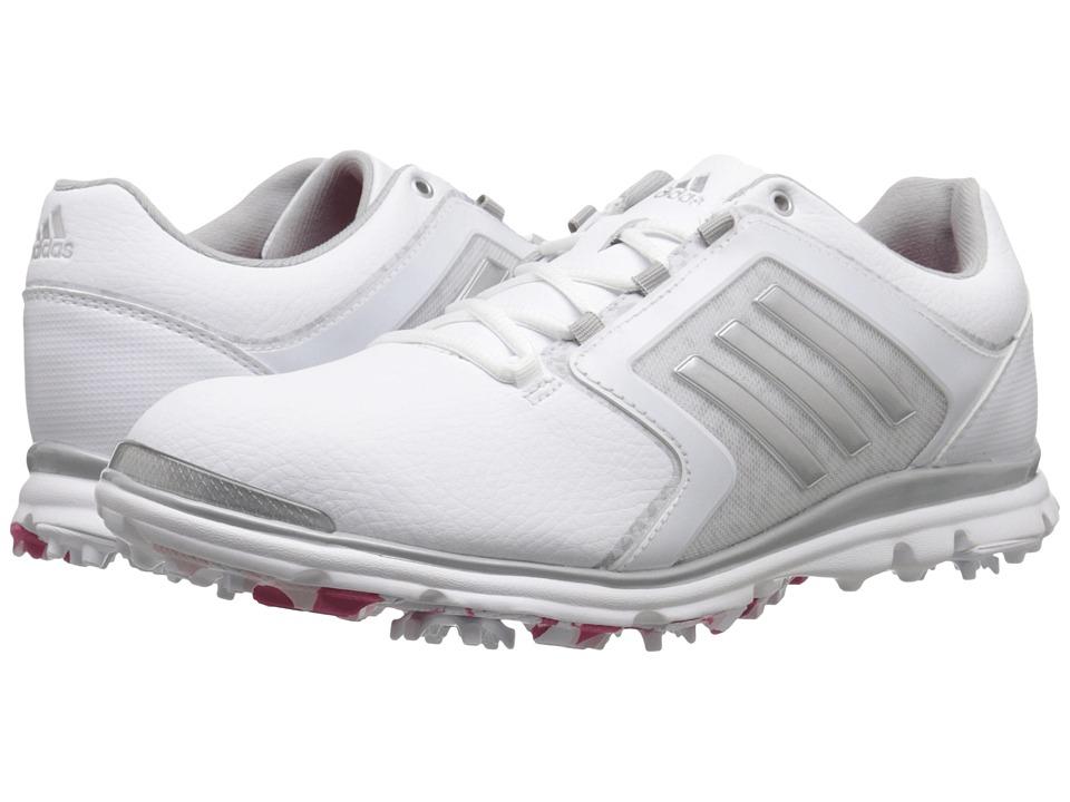 adidas Golf Adistar Tour Ftwr White/Matte Silver/Raspberry Rose Tmag Womens Golf Shoes