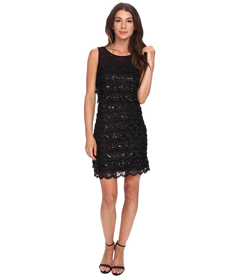 Jessica Simpson - 10th ANN Tier Sequin (Black) Women's Dress