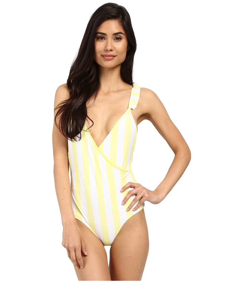 Lolli Morning One Piece Mellow Yellow Stripes Womens Swimsuits One Piece