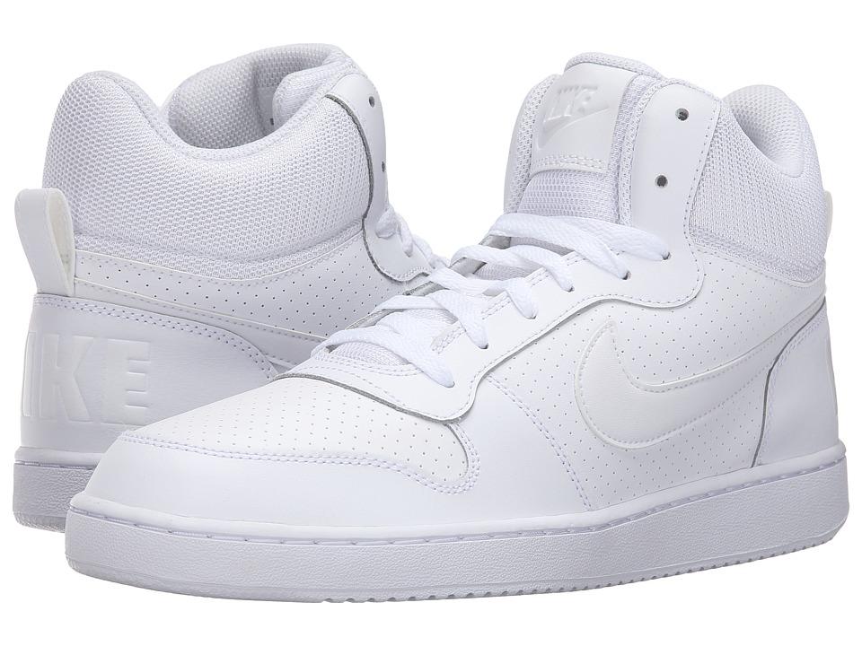Nike Court Borough Mid (White/White/White) Men