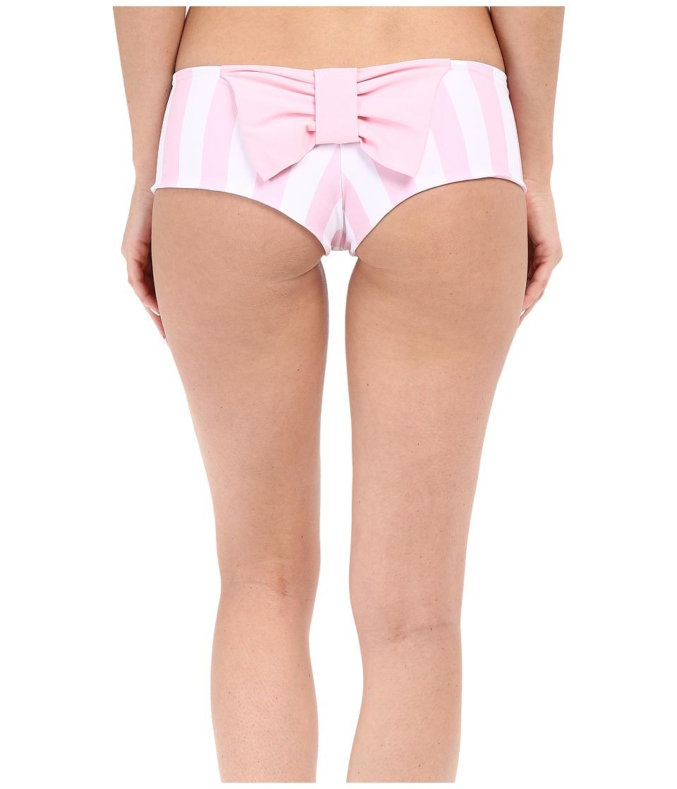 Lolli Classic Bow Bottom Pinky Stripes/Purr Womens Swimwear