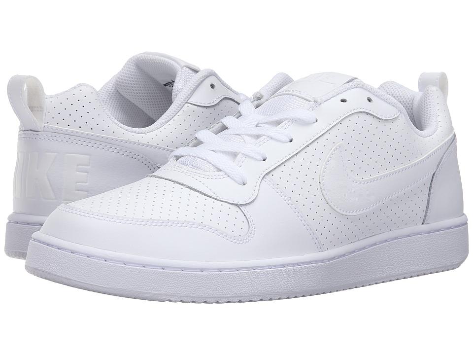 Nike Court Borough (White/White/White) Men's Basketball S...