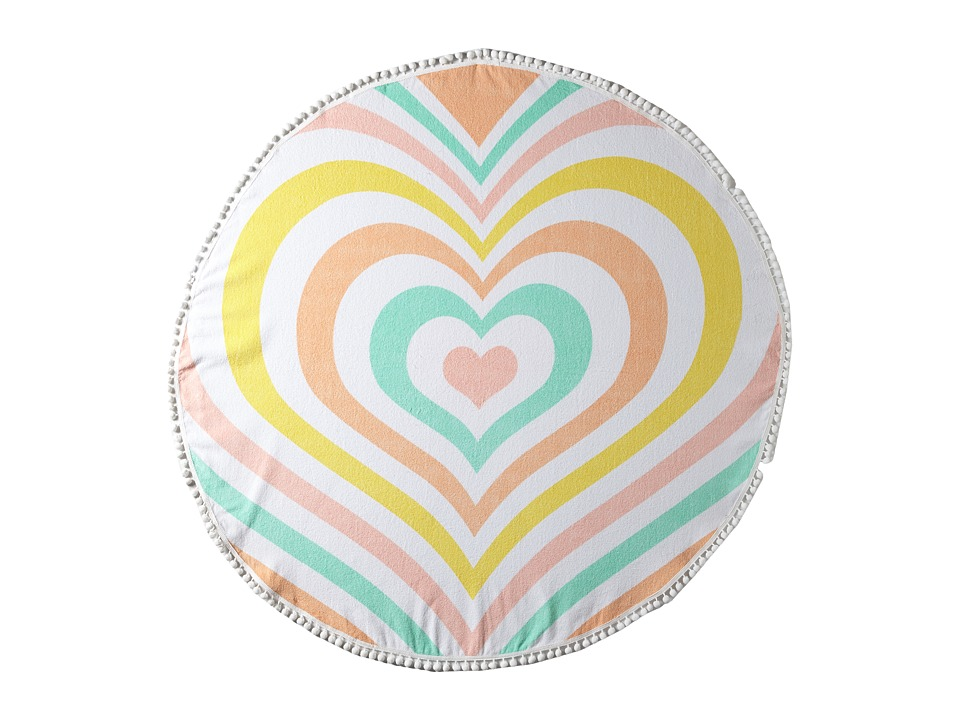 Lolli Heart Towel Rainbow Bath Towels