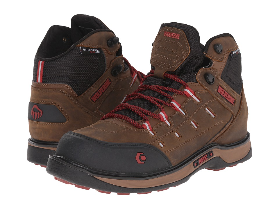 Wolverine Edge LX EPX Waterproof Carbonmax (Brown/Red) Men