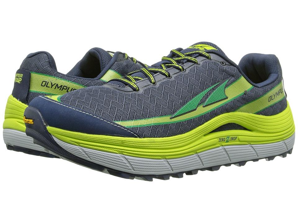 Altra Footwear Olympus 2 Blue Iris/Lime Mens Running Shoes
