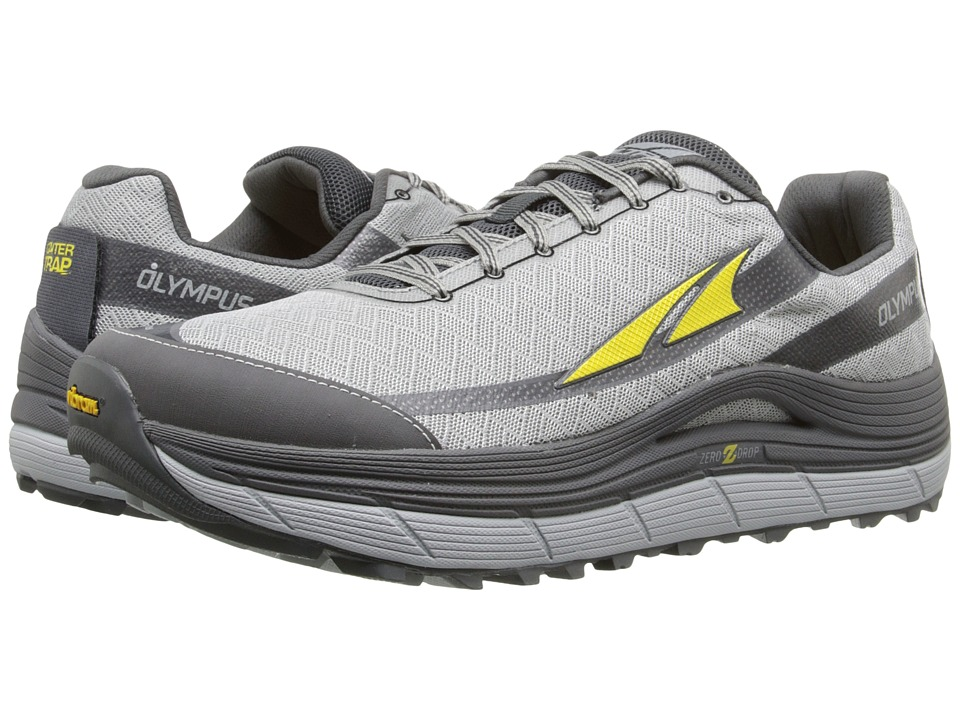Altra Footwear Olympus 2 Silver/Cyber Yellow Mens Running Shoes