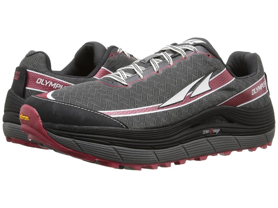 Altra Footwear - Olympus 2 (Pewter/Racing Red) Mens Running Shoes