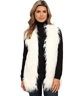 XOXO - Rib Sweater Back Fur Vest