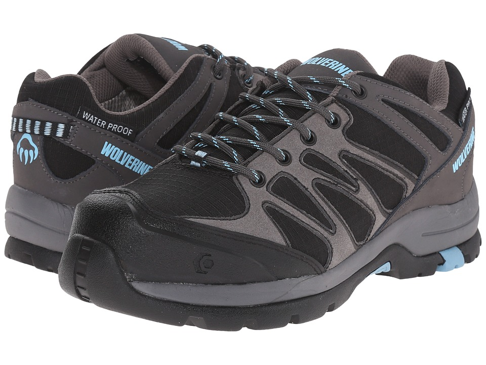 Wolverine Fletcher NT Low WPF Work Hiker Black/Blue Womens Lace up casual Shoes