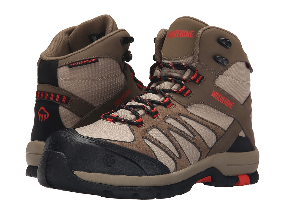 Wolverine Fletcher NT Mid WPF Work Hiker (Brown/Tan) Women