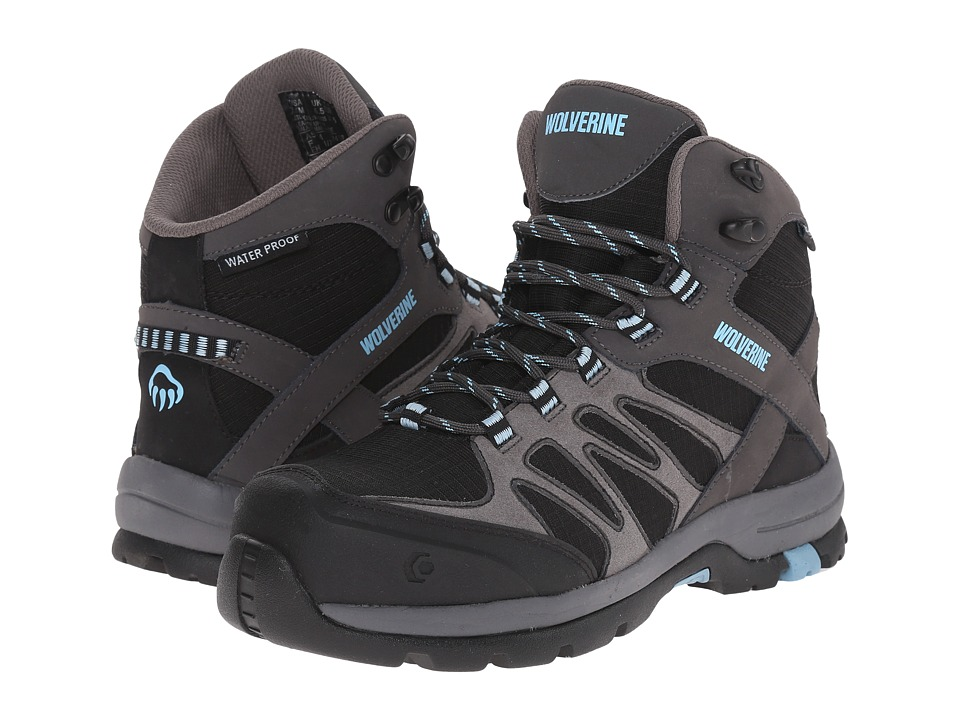 Wolverine Fletcher NT Mid WPF Work Hiker (Black/Blue) Women