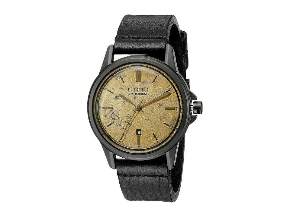 Electric Eyewear Carroway Leather All Black/Brass Watches