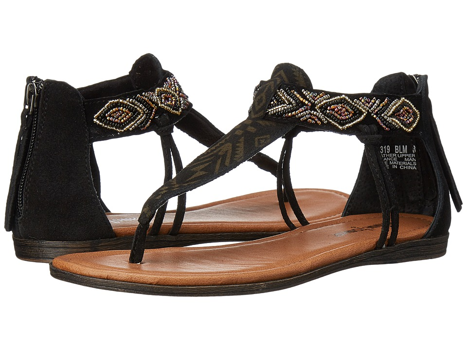 Minnetonka - Antigua (Black Suede/Metallic Beads) Women