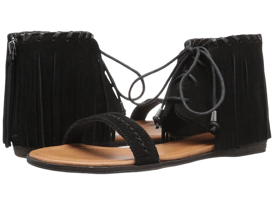 Minnetonka Havana Black Suede Womens Sandals
