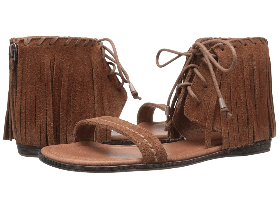 Minnetonka Havana Dusty Brown Suede Womens Sandals