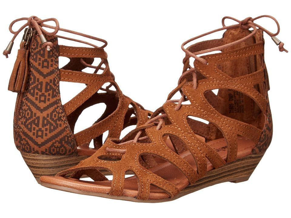 Minnetonka Merida II Dusty Brown Suede/Chocolate Mesa Fabric Womens Flat Shoes