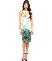 Versace Collection - Swan Placed Print Tubino Dress