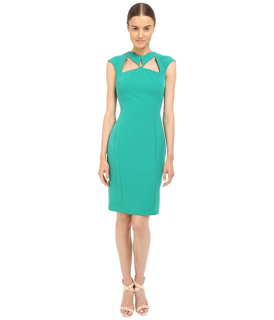 Versace Collection Emerald Cutout Dress Green Womens Dress