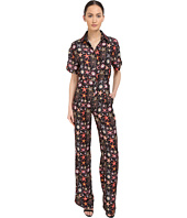 Versace Collection - Black Starfish Printed Jumpsuit