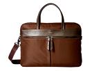 KNOMO London Hanover Slim Laptop Briefcase (Chestnut)