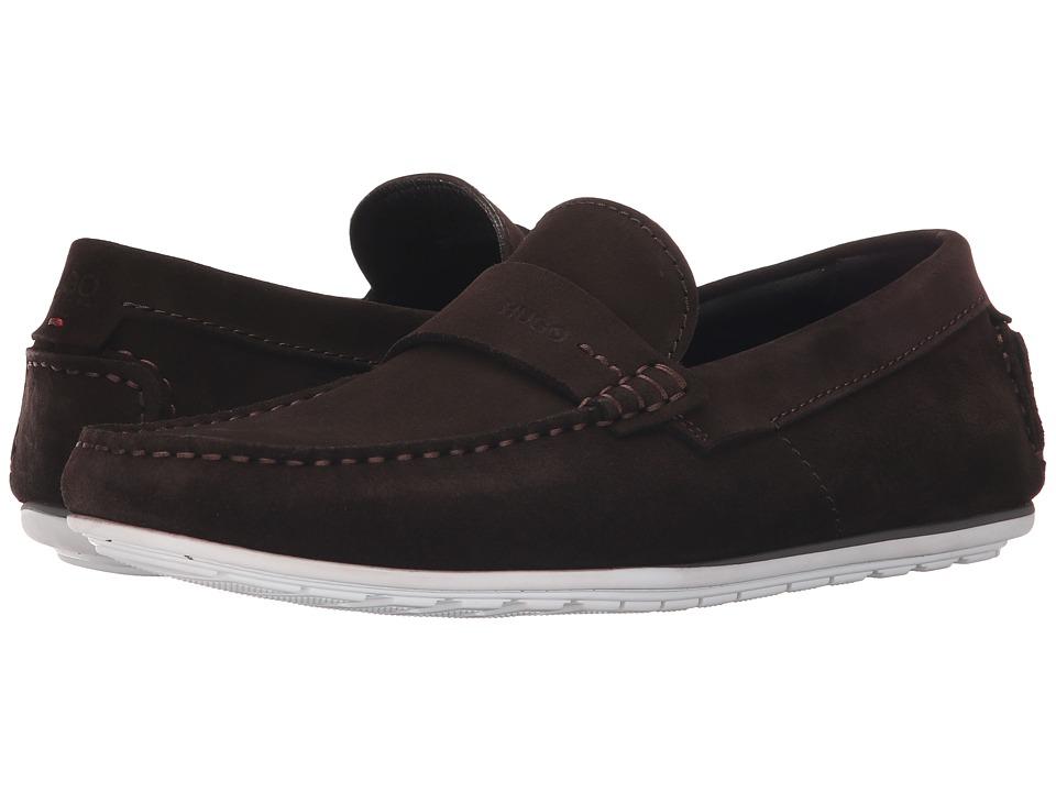 BOSS Hugo Boss C Traveso by HUGO Dark Brown Mens Slip on Shoes