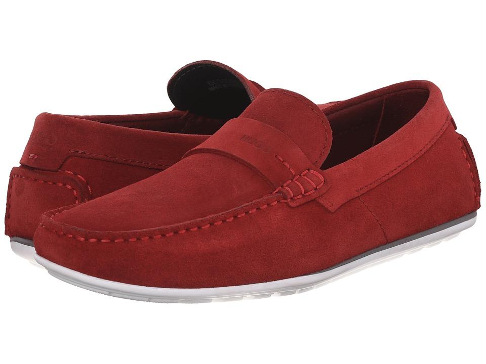 BOSS Hugo Boss C Traveso by HUGO Dark Red Mens Slip on Shoes