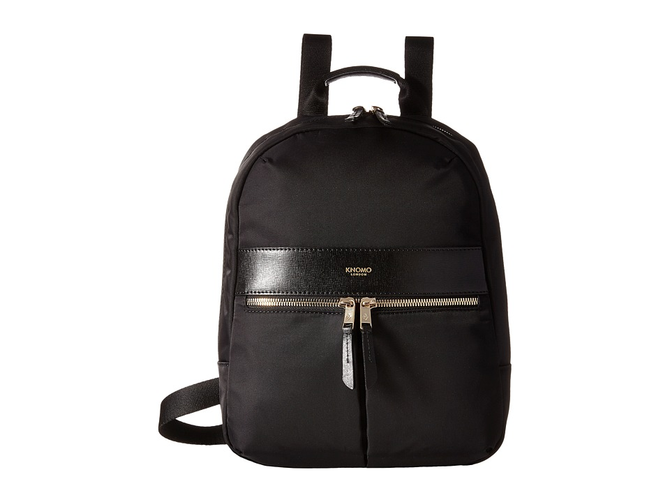 KNOMO London - Baby Beauchamp Mini Backpack (Black) Backpack Bags