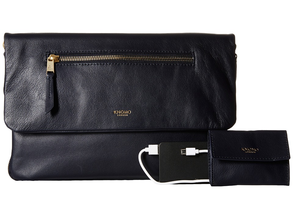 KNOMO London - Elektronista Digital Clutch Bag (Navy) Clutch Handbags