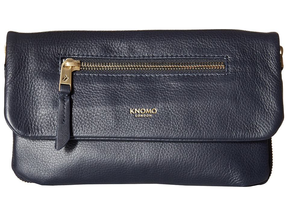 KNOMO London - Elektronista Mini Smartphone Clutch Bag (Navy) Cross Body Handbags