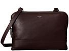 KNOMO London Davies Leather Crossbody Bag (Espresso)