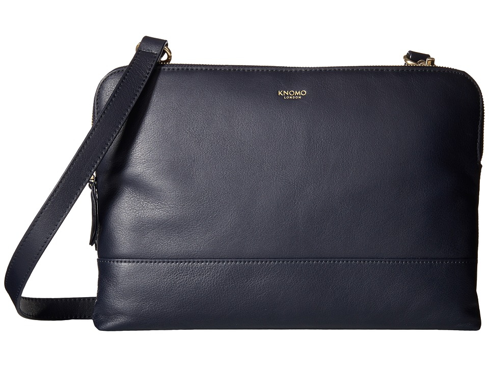 KNOMO London - Davies Leather Crossbody Bag (Navy) Cross Body Handbags