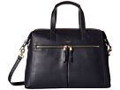KNOMO London Audley Leather Slim Laptop Tote (Navy)