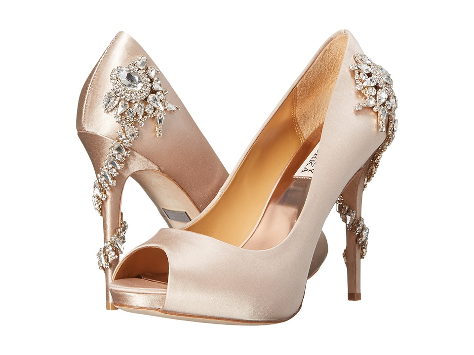 Badgley Mischka Royal (Nude Satin) High Heels