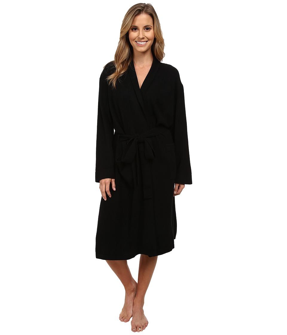 BedHead Cashmere Robe Black Solid Womens Robe