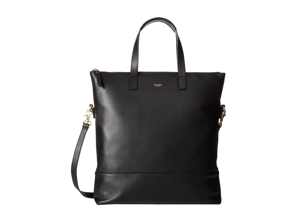 KNOMO London - Vigo North/South Top Zip Tote (Black) Tote Handbags