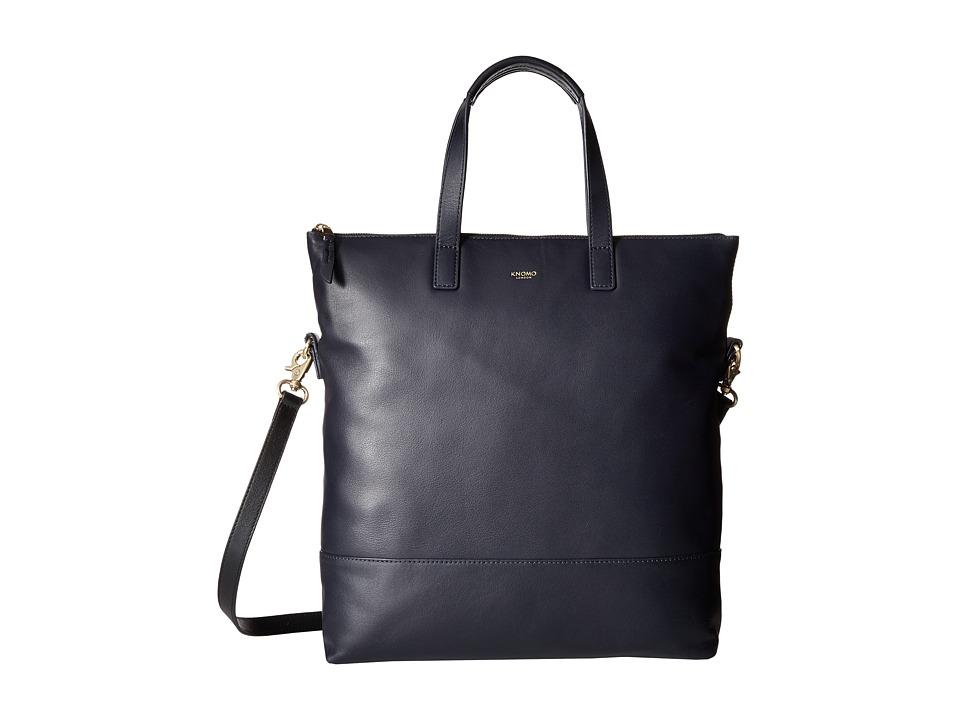KNOMO London - Vigo North/South Top Zip Tote (Navy) Tote Handbags