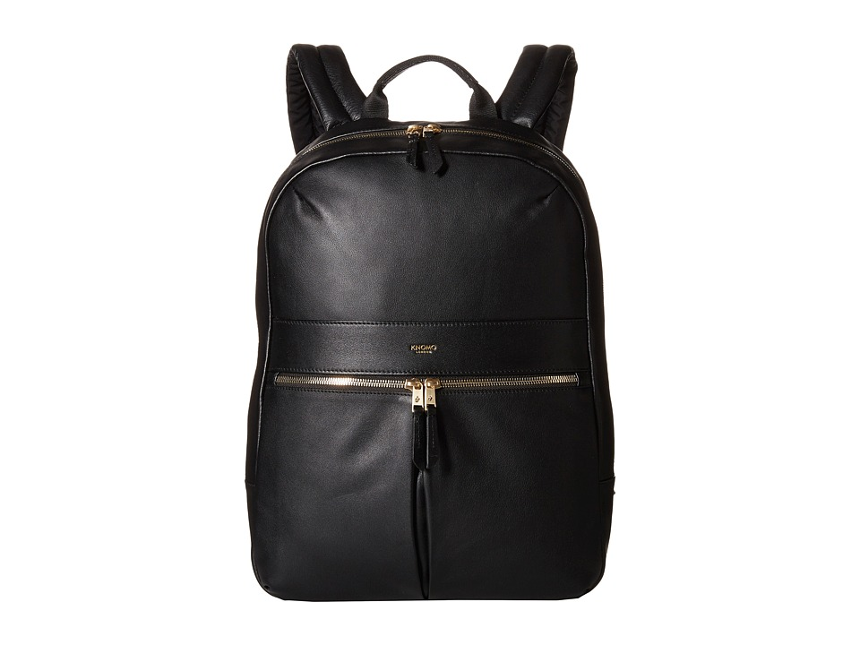 KNOMO London - Beaux Laptop Backpack (Black) Backpack Bags