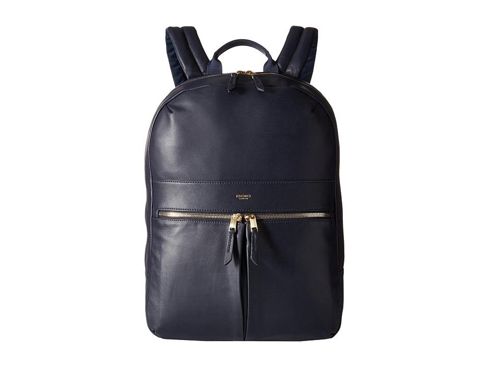 KNOMO London - Beaux Laptop Backpack (Navy) Backpack Bags