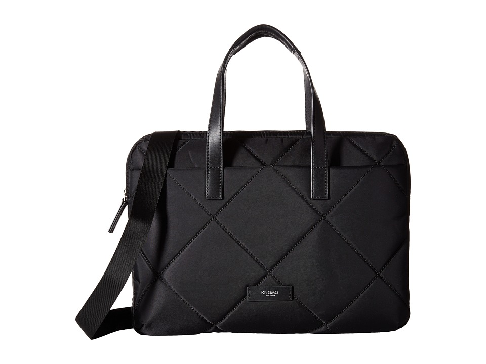 KNOMO London - Talbot Laptop Briefcase (Black) Briefcase Bags