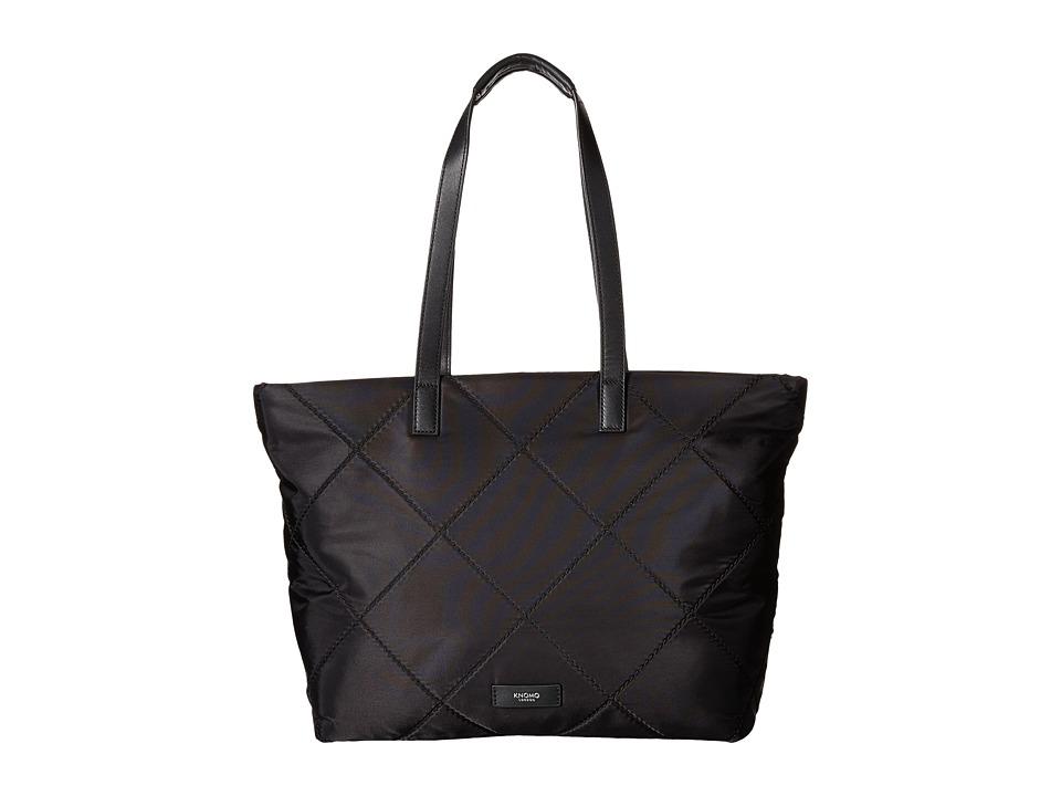 KNOMO London - Porchester Laptop Top Zip Tote (Black) Tote Handbags