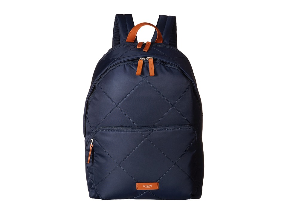 KNOMO London - Bathurst Laptop Backpack (Navy) Backpack Bags