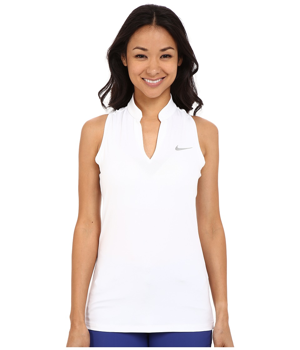 Nike Golf Ace Melt Away Racerback White/Reflective Silver Womens Sleeveless