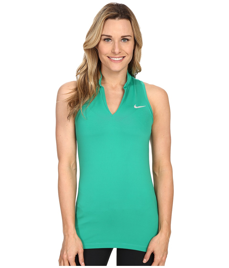Nike Golf Ace Melt Away Racerback Lucid Green/Reflective Silver Womens Sleeveless